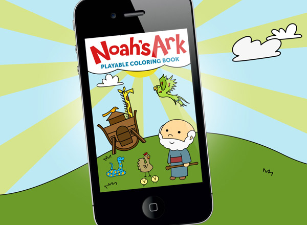 Noah's Ark Playable Coloring Book